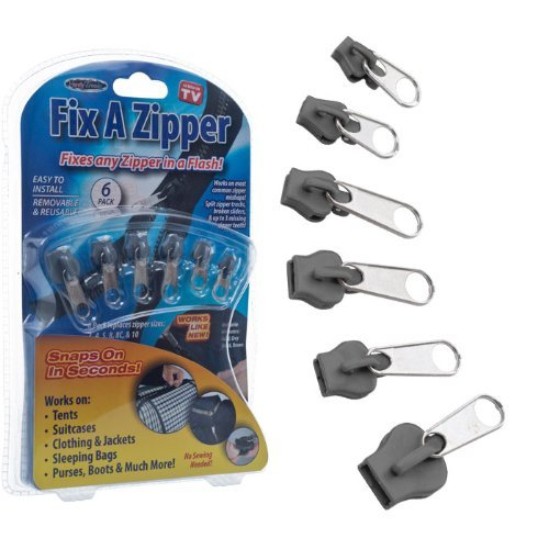 Fix A Zipper - Grey - As Seen on TV (82-02133GY) - 1 pack (6 units)