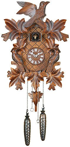 German Cuckoo Clock Quartz-movement Carved-Style 16.00 inch - Authentic black forest cuckoo clock by Trenkle Uhren