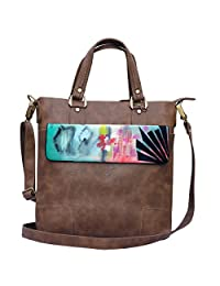 Hand-painted Abstract Glam Handbags
