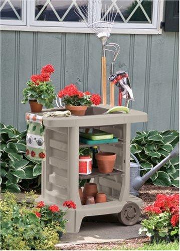 Carrito auxiliar jardin organizador jardineria patio carro for Auxiliar jardineria
