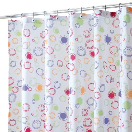 Interdesign Doodle Collection Shower Curtain Bright Colors Shower Curtains Outlet Shower