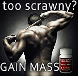"HERCUPLAN (90 DAY SUPPLY) ""Too Scrawny"" - Super Strength Hercuplan - 100% Safe! Gain Mass. Gain Weight For Men. Great Diet Supplement! Best Seller! (Weight Gainer!)"