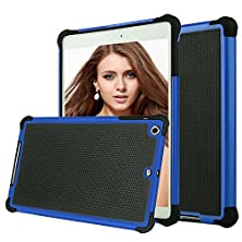 buy Ipad Mini 3 Case,Ipad Mini Case, Shuyo(Tm) [Tmajor Series] Ipad Mini1/2/3 Case Shock Absorbing Hybrid Impact Defender Slim Cover Shell Plastic Outer + Rubber Silicone Inner [Black/Blue]