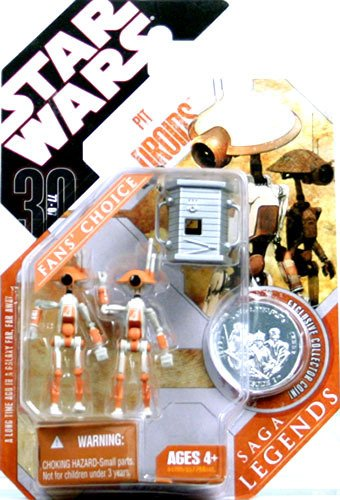 Star Wars Saga Legends Pit Droids (Orange) with Bent Knee