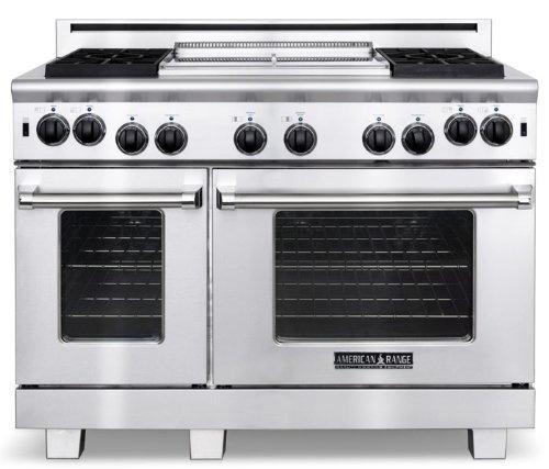 American-Range-ARROB648GDL-Performer-Series-48-Open-Burner-All-Gas-Range-Stainless-Steel