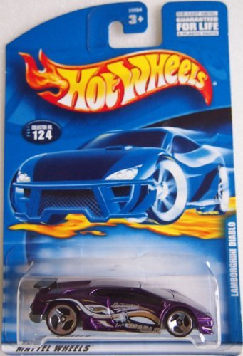 Hot Wheels #2001-124 Lamborghini Diablo 3-spoke Wheels 1:64 Scale Collectible Collector Die Cast Car - 1