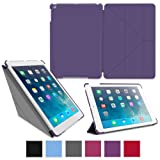rooCASE Apple iPad Air Case – Slim Shell Origami Case for Apple iPad 5 Air (5th Gen) Tablet, PURPLE (With Smart Cover Auto Wake / Sleep)