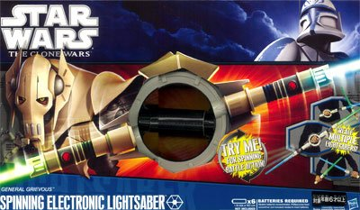 スター・ウォーズ ロールプレイ グリーバス将軍 スピニング ライトセーバー 単品