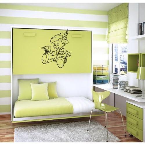 Pinocchio Cricket Cartoon Kids Room Wall Vinyl Sticker Decal Art Mural O56