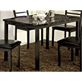 Furniture of America Casella Faux Marble Top Dining Table, 48-Inch