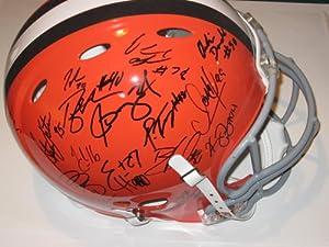 2012 Cleveland Browns Team Signed Helmet Trent Richardson , Brandon Weeden Rookie... by Riddell