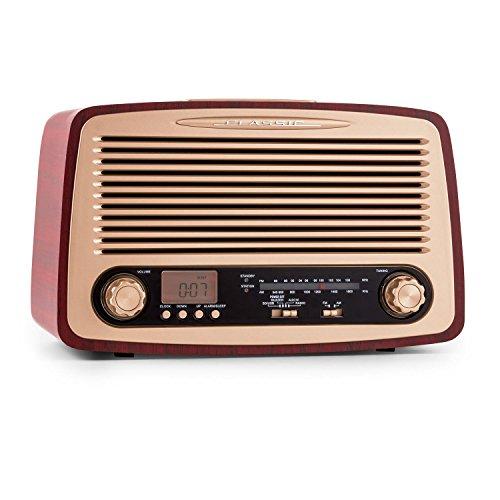 Roadstar HRA-1325US Retro Design Radio (USB, SD-Slot, MP3) holzoptik braun