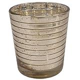 GolMaalShop Glass Candle Holder Slim (4.4 X 11.4 Inches, Silver) - B00R16L2T4