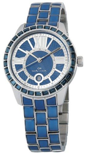 Carlo Monti CMZ01-133 - Reloj analógico de cuarzo para mujer con correa de acero inoxidable, color azul