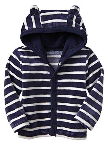 Gap Baby Stripe Velour Hoody Size 12-18 M front-1012093