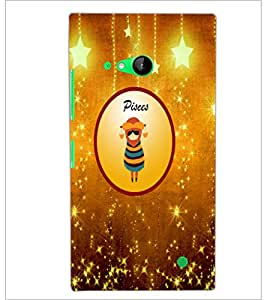 PrintDhaba Zodiac Pisces D-3698 Back Case Cover for NOKIA LUMIA 730 (Multi-Coloured)
