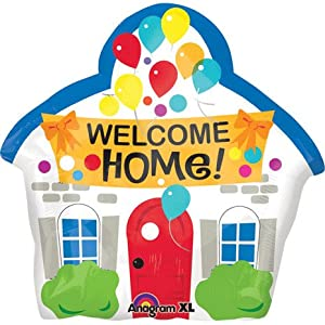 "Amazon.com: Welcome Home House Shaped 18"" Mylar Foil Balloon: Toys"