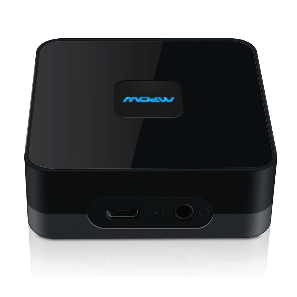 Bluetooth Receiver, Mpow Streambot Box Bluetooth 4.0 Audio A2DP Receiver NFC-Enabled apt-X Adapter with Stable Signal and Hight-fidelity Stereo Sound via 3.5mm & RCA audio cable