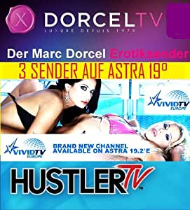 2 Vollerotik XXX Kanäle auf Astra 19,2° DorcelTV + HustlerTV 24 Stunden 12 Monate