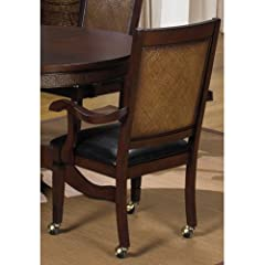 Progressive Furniture Kingston Isle Dining Arm Chairs with Casters - Set of 2