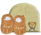 Billow Unisex Baby Bootie & Beanie (0-6 Months) Boo Bears Gift Set