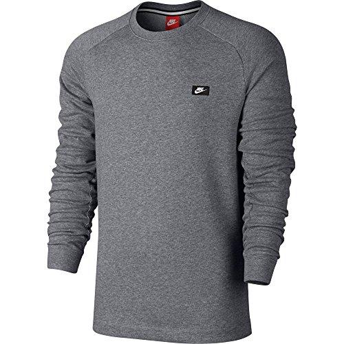 Nike Modern Crew Men's Sweat Shirt Grey Casual Regular Fashion 805126-091 (Size S)