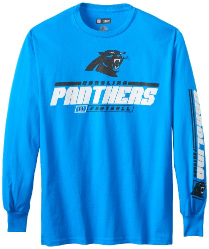 Nfl Carolina Panthers Men'S Primary Receiver Iv Long Sleeve Tee, Electric Blue, Small