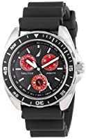 Nautica Men's N07577G Sport Ring Multifunction Black and Red Watch by Nautica