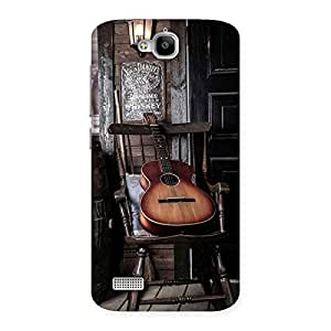 Ajay Enterprises Old Guitar On Chair Back Case Cover for Honor Holly