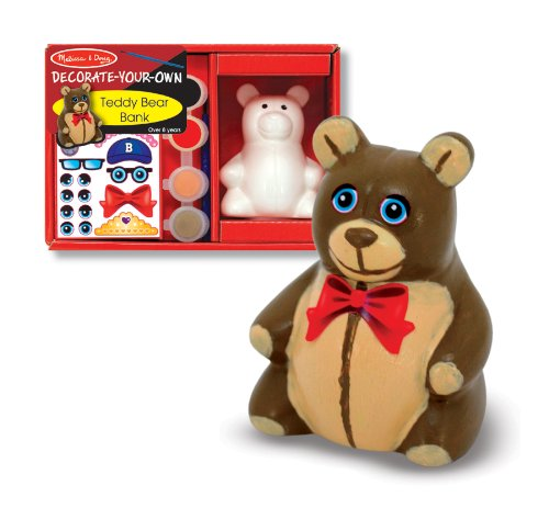 Melissa & Doug Teddy Bear Bank - DYO