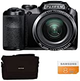 Fuji FinePix S4800 Compact Digital Camera - Black (16 MP, 30x Optical Zoom) 3-Inch LCD with 8GB Class 10 Memory Card and Bridge Case