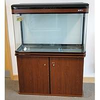 LZ-810 MAHOGANY Modern Cabinet Aquarium Fish Tank Marine / Tropical / Freshwater - (84cm 2.9ft)- 198L with T8 Lighting