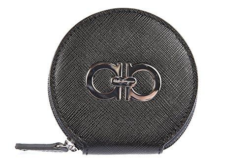 Salvatore Ferragamo portafoglio portamonete donna in pelle nero