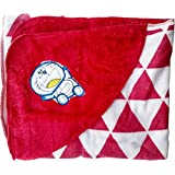 Fancyadda Baby Wrapper For New Born With Hood - Red Color