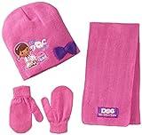 Berkshire Little Girls' 3 Piece Doc Mcstuffins Lambie Hat Mitten and Scarf Set