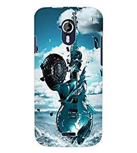 ColourCraft Stylish Guitar Design Back Case Cover for MICROMAX CANVAS MAGNUS A117