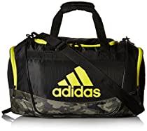 adidas Defender II Duffel Bag, Black/Cab Camouflage/Shock Yellow, Small