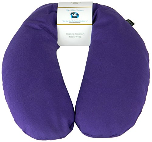 Neck Pain Relief Pillow - Hot / Cold Therapeutic Herbal Pillow For Shoulder & Neck Pain, Stress & Migraine Relief (Royal Purple - Organic Cotton) (Heated Neck Pillow Microwave compare prices)