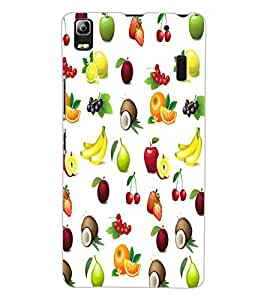 ColourCraft Fruits Design Back Case Cover for LENOVO K3 NOTE