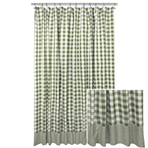 Sage York Large Woven Buffalo Check Shower Curtain By Park Designs