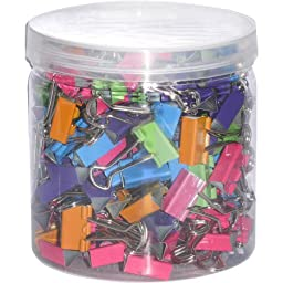 Casemate Binder Clips, 144-Count, Assorted Colors