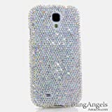 3D Luxury Swarovski Crystal Sparkle Diamond Bling AB Crystals Design Case Cover for Samsung Galaxy S4 S 4 IV i9500 fits Verizon, AT&T, T-mobile, Sprint and other Carriers (Handcrafted by BlingAngels®)