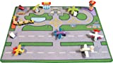 Toy - Airport Playmat with Planes (100x73cm) - with extra Accessories
