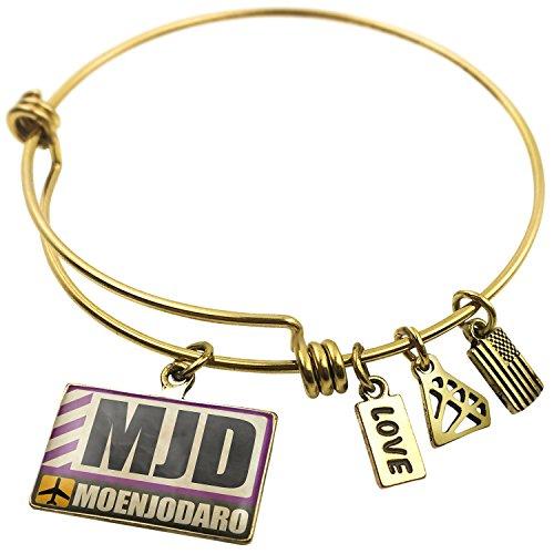 expandable-wire-bangle-bracelet-airportcode-mjd-moenjodaro-neonblond