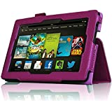InventCase Amazon Kindle Fire HD 7 Tablet (3rd Generation - 7-Inch) 2013 Smart Multi-Functional Leather 2-Fold Case Cover with Sleep Wake Function - Purple