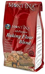 Montina Gluten Free All Purpose Baking Flour Blend, 24-Ounce Bags (Pack of 4)
