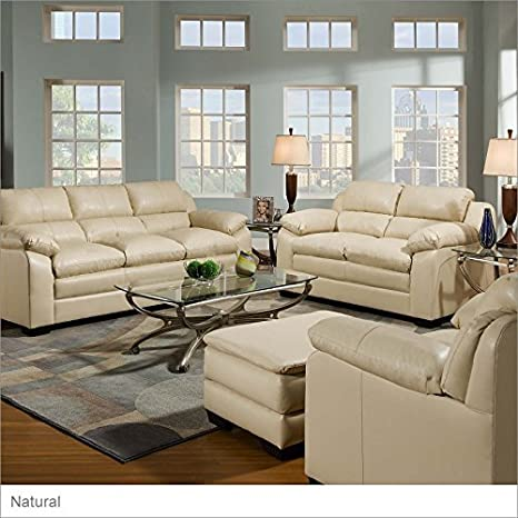 Simmons Upholstery 5066 Soho Bonded Leather Sofa Natural