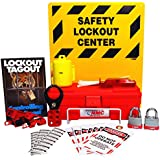 "NMC LOK2 11 Piece Electrical Lockout Center Kit, 14"" Width x 16"" Height"