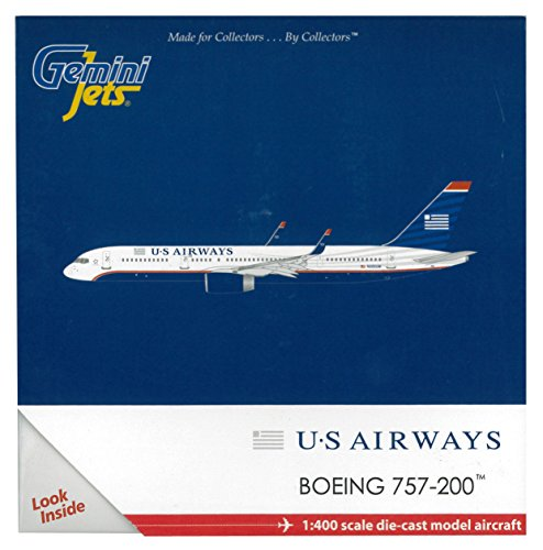 Gemini Jets US Airways 757-200W Aircraft (1:400 Scale) (Us Airways Model Airplane compare prices)