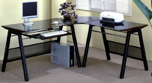 Buy Low Price Comfortable Amorite Rich Black Metal/Wood Computer Desk Station (B003XNZQ2S)
